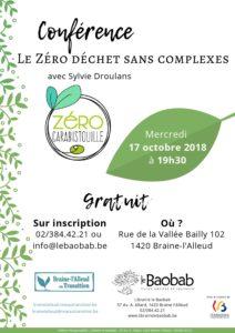 Conférence Le Zéro Déchet sans complexes de Sylvie Droulans @ Institut de la Vallée Bailly | Braine-l'Alleud | Wallonie | Belgique