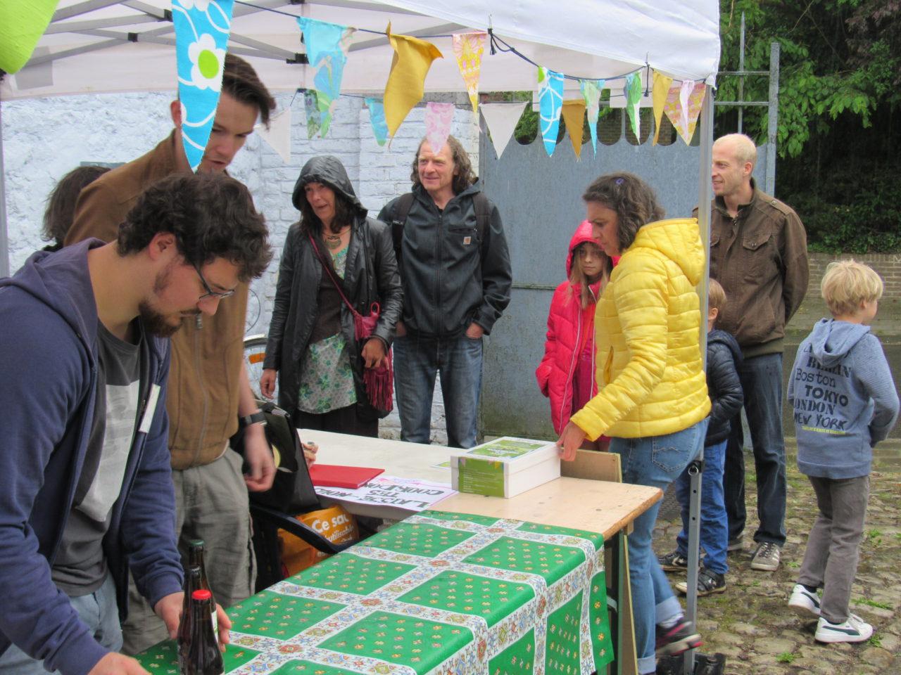Bar oxfam Fête de la Transition