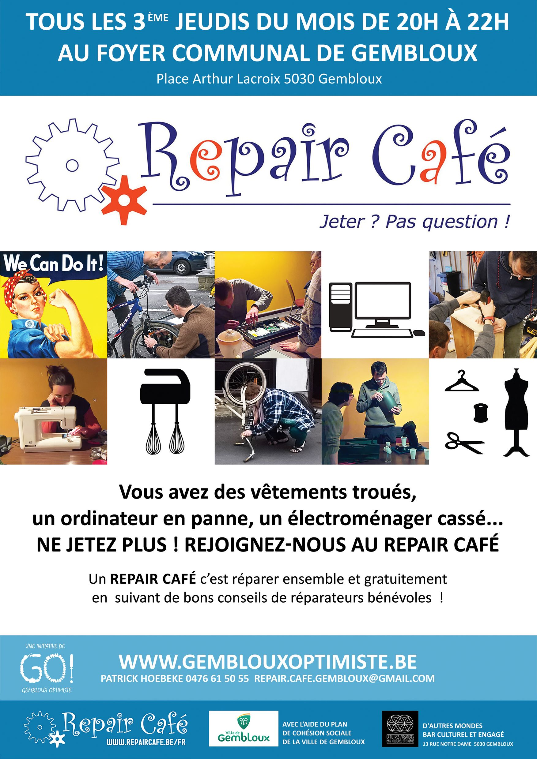 Repair café @ Foyer communal Gembloux