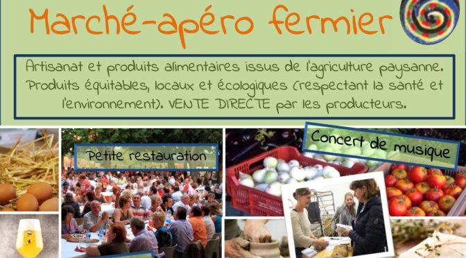 Ce 25 Août, apéro-marché fermier du Trio de la Grelinette
