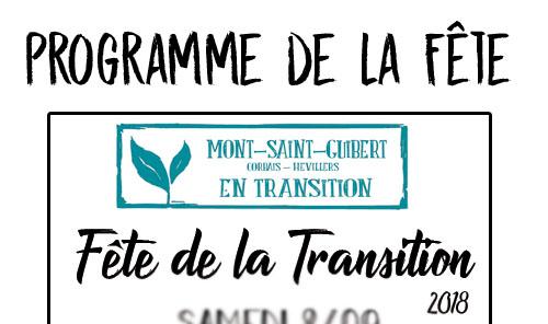 Programme de la fête de la Transition 2018