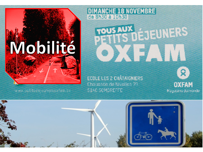 Le groupe mobilité au petit déjeuner Oxfam