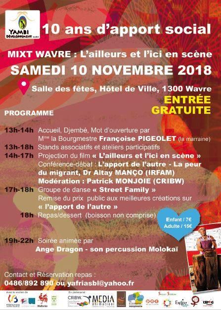 @Wavre – Yambi Développement : 10 ans d'apport social @ Hôtel de Ville de wavre @ Place de l'Hôtel de Ville, 1300 Wavre, Belgique