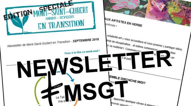 Inscrivez-vous à la newsletter de Mont-Saint-Guibert en Transition !
