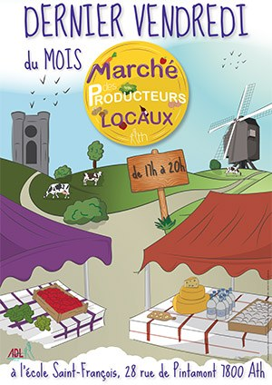 Marché des producteurs locaux @ Ath Ecole Saint François (face à l'église Saint-Julien)